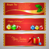 Holiday Banners Royalty Free Stock Photography