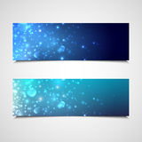 Holiday banners with sparkles Stock Photo