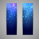 Holiday banners with sparkles Stock Image