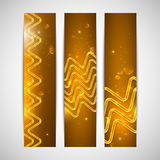 Holiday banners with sparkles Royalty Free Stock Image