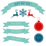 Holiday Banners and Stickers Stock Image