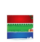 Holiday banners. Various themed and colored holiday banners Stock Photography