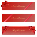 Holiday banners   on white background. Vector Royalty Free Stock Images