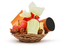 Holiday basket Stock Photo