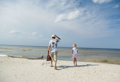 Holiday on the beach. Royalty Free Stock Images