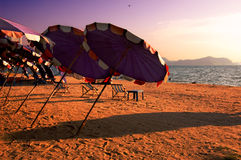 Holiday on the Beach. Pattaya Beach, Thailand Royalty Free Stock Photos