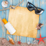 Holiday beach concept Stock Images