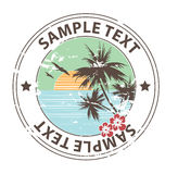 Holiday On The Beach Emblem Royalty Free Stock Photo