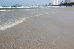 Holiday on the beach. Hua-hin beach in Thailand stock photos