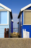 Holiday Beach Huts Stock Photos