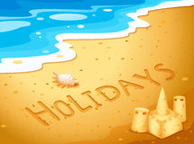Holiday at the beach Royalty Free Stock Image