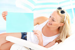 Holiday on the beach - space for your text Stock Images