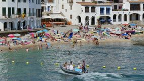 Holiday on the Beach in Spain in Summer stock video footage