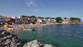 Holiday on the Beach in Spain in Summer stock footage