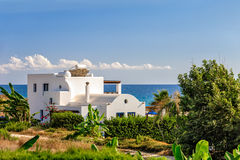 Holiday beach villa. Luxurious holiday beach villa for rent on Cyprus Stock Image