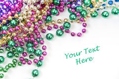 Holiday bead background Stock Images
