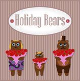 Holiday Bears. Set Stock Images