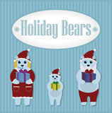 Holiday Bears. Winter. Set Royalty Free Stock Images