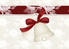Holiday Bells Background Card Stock Photo
