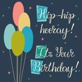 Holiday Birthday Baloons cards royalty free stock image
