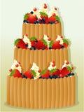 Holiday birthday cake Royalty Free Stock Photography
