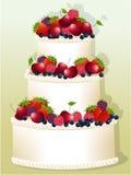 Holiday birthday cake Royalty Free Stock Image