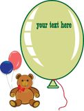 Holiday birthday card with teddy bear Royalty Free Stock Photography