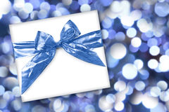 Holiday or Birthday Gift on Abstract Background Stock Image