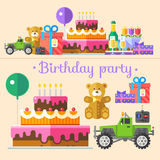 Holiday birthday party Stock Images