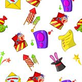Holiday birthday pattern, cartoon style Royalty Free Stock Images