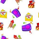 Holiday birthday pattern, cartoon style Stock Photo