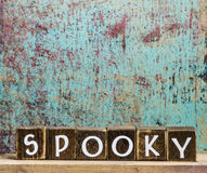 Holiday blocks wooden spooky Stock Photography