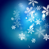 Holiday blue abstract background, winter Stock Photos