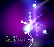 Holiday blue abstract background, winter. Snowflakes, Christmas and New Year design template, light shiny modern vector illustration Stock Photos