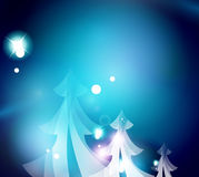 Holiday blue abstract background, winter Stock Image