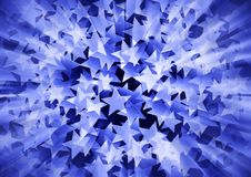Holiday blue background consisting of stars Royalty Free Stock Photography
