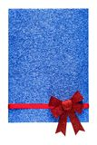 Holiday blue background with red ribbon Stock Image