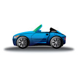 Holiday blue car Royalty Free Stock Photo