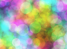 Holiday blur manycolored rounds bokeh backgrounds in Chaotic Arr Stock Image