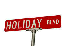 Holiday Blvd Sign Royalty Free Stock Image