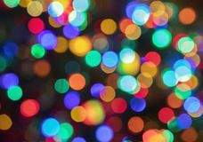 Holiday Bokeh Background Lights Royalty Free Stock Photography