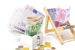 Holiday bonuses, vacation fund Stock Photo