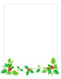 Holiday Border / Holly. Clean Holly leaves Christmas/holiday background/border Stock Photos