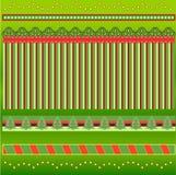 Holiday Border Set. Beautiful Christmas Holiday Border Set Vector Illustration