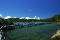 Holiday in borneo. Against blue skies stock images