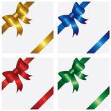 Holiday bow. Bow and ribbon wrapping paper sheet, illustration Stock Images