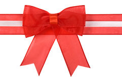 Holiday bow with ribbon isolated. Stock Photography
