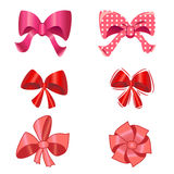 Holiday bow set for design. illustration. Royalty Free Stock Images