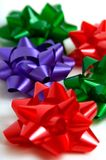 Holiday Bows. Multi colored holiday bows Stock Photography