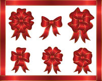 Holiday bows. And ribbon on white background, illustration Royalty Free Stock Photography